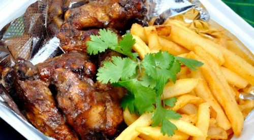 CARIBBEAN JERK WINGS AND FRIES