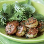 scallops in herbed butter sauce