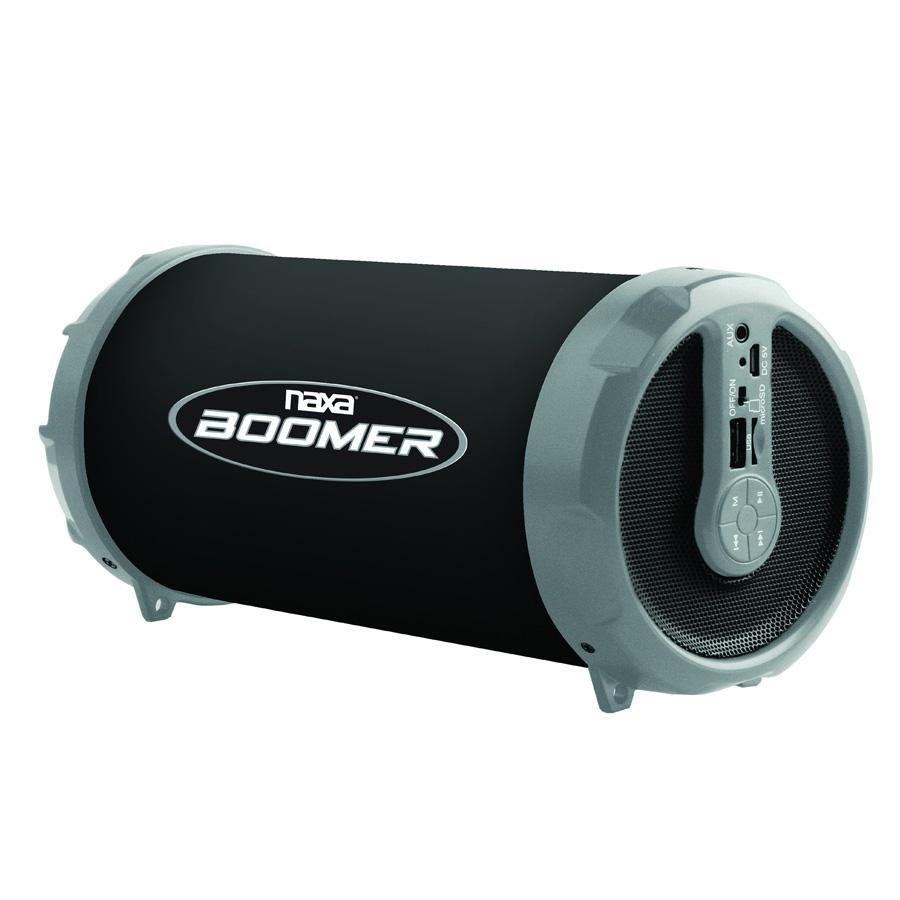 naxa boomer bluetooth portable speaker mp3 player. Black Bedroom Furniture Sets. Home Design Ideas