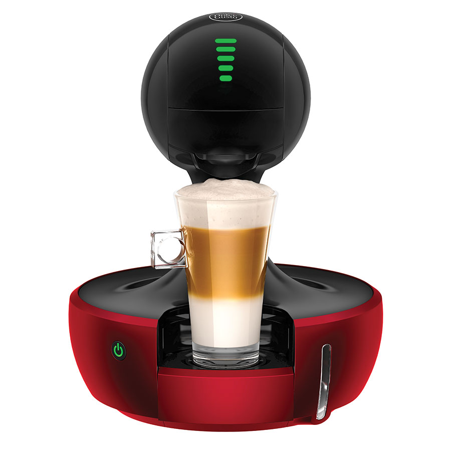 nescaf dolce gusto drop automatic coffee machine metallic red massy stores trinidad. Black Bedroom Furniture Sets. Home Design Ideas
