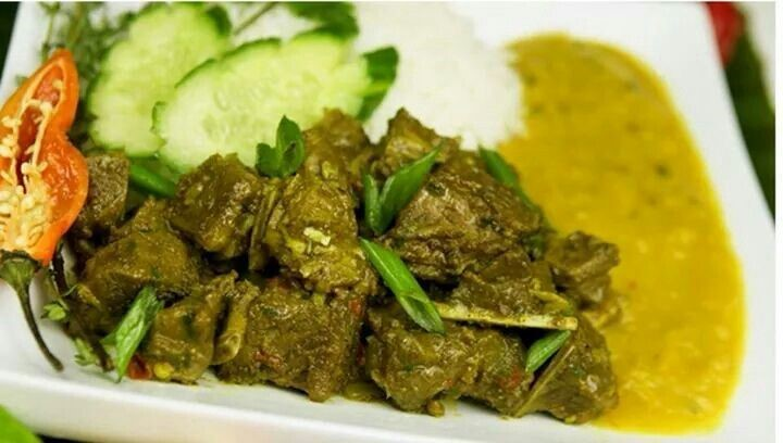 Curried Goat Dhal And Rice Massy Stores Trinidad